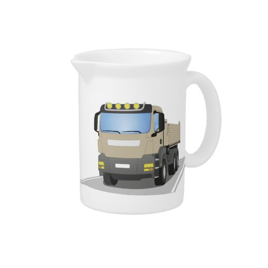 grey building sites truck pitcher