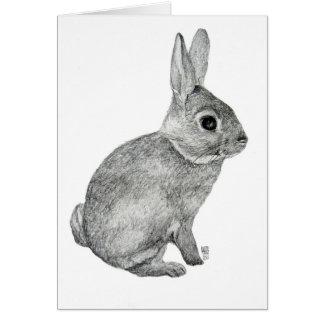 Grey Bunny Card