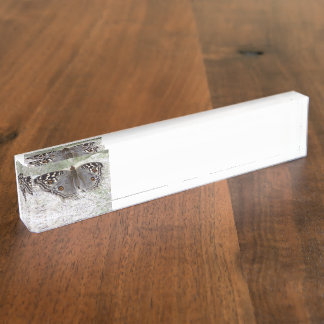 Grey Butterfly Clour Image - Desk Nameplate
