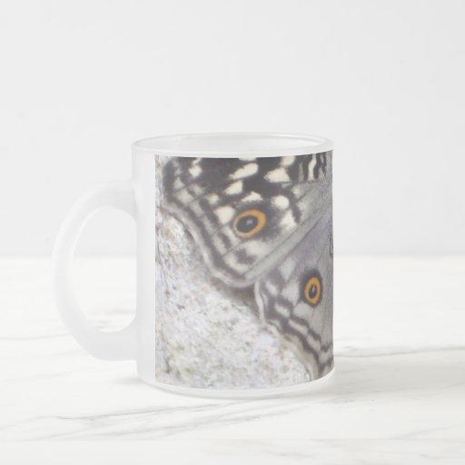 Grey Butterfly Colour Image - Frosted Glass Mug