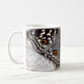Grey Butterfly Colour Image - White Classic Mug