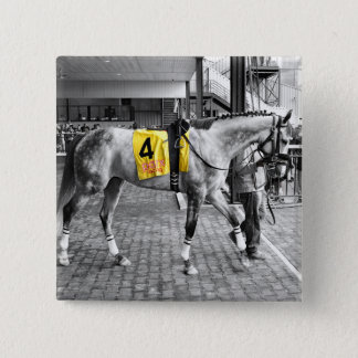 Grey by You 2 Inch Square Button