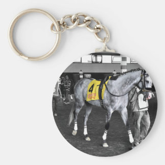 Grey by You Basic Round Button Keychain
