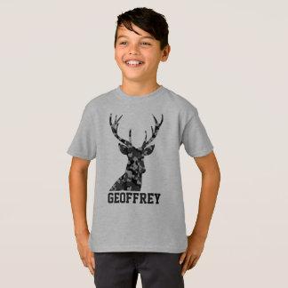 Grey Camo Deer with Antlers T-Shirt