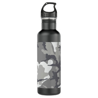 Grey Camo Steel 24 oz. water bottle