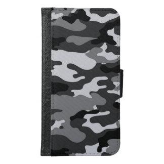 Grey camouflage Galaxy S6 Wallet Case