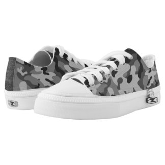 Grey Camouflage Low Top Shoes
