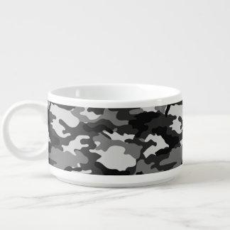 Grey Camouflage Pattern Chili Bowl