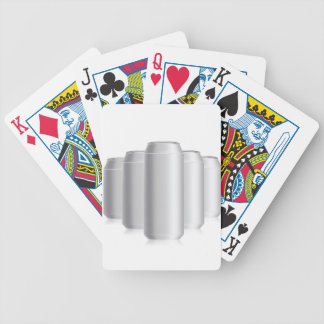 grey cans bicycle playing cards