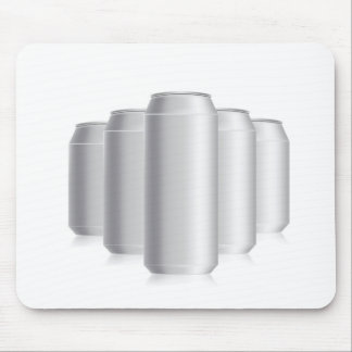 grey cans mouse pad