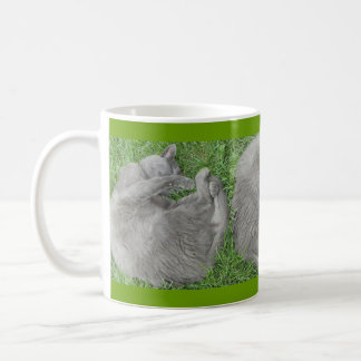 Grey Cat Nap Coffee Mug