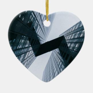 Grey Ceramic Heart Ornament