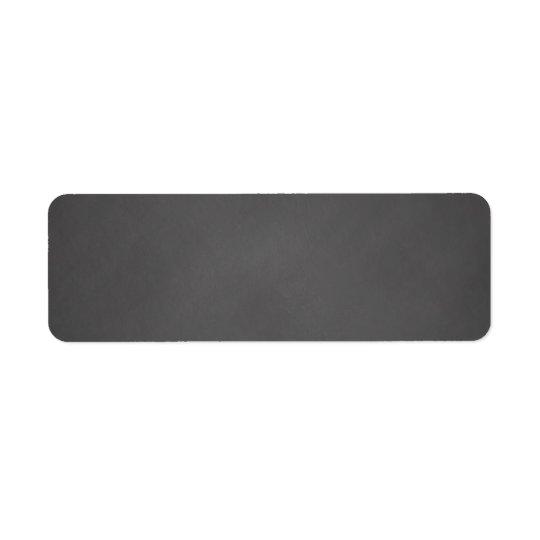 Grey Chalkboard Background Black Chalk Board Return Address Label