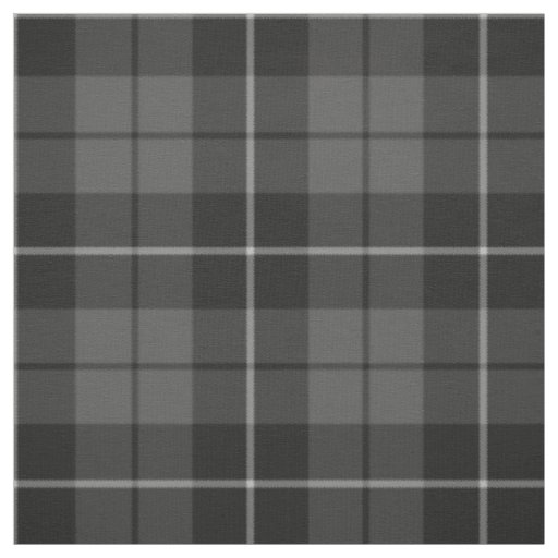 Grey charcoal black plaid pattern fabric