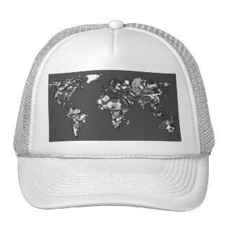 Grey charcoal earth trucker hat