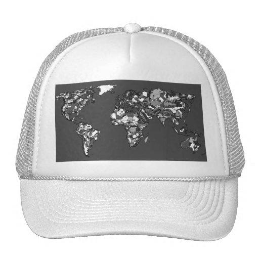 Grey charcoal earth mesh hats