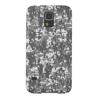 Grey Charcoal Urban Digital Camo Pattern Galaxy S5 Cases