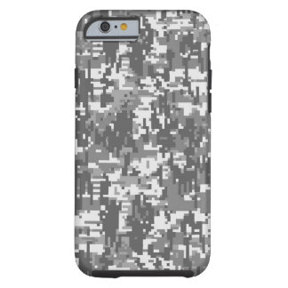 Grey Charcoal Urban Digital Camo Pattern Tough iPhone 6 Case