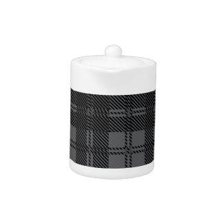 Grey Check Tartan Wool Material