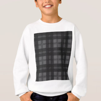 Grey Check Tartan Wool Material Sweatshirt
