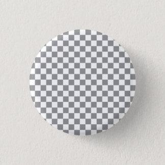 Grey Checkerboard 1 Inch Round Button