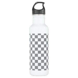 Grey Checkerboard 710 Ml Water Bottle