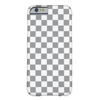 Grey Checkerboard Barely There iPhone 6 Case