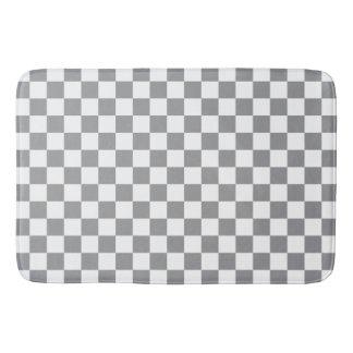 Grey Checkerboard Bathroom Mat