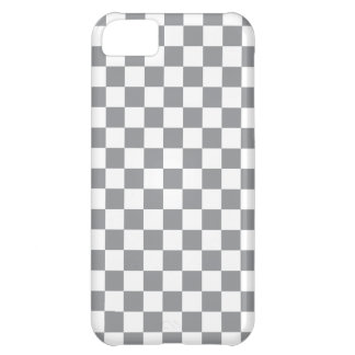 Grey Checkerboard Case For iPhone 5C