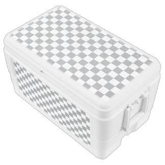 Grey Checkerboard Chest Cooler