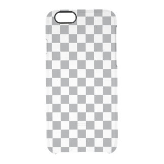 Grey Checkerboard Clear iPhone 6/6S Case