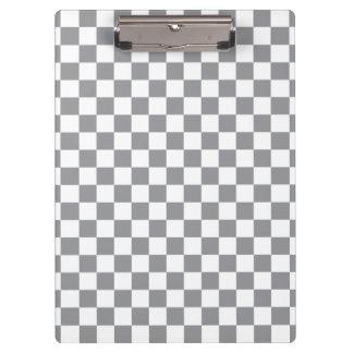 Grey Checkerboard Clipboard