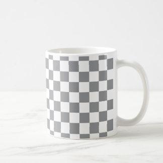 Grey Checkerboard Coffee Mug