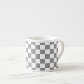 Grey Checkerboard Espresso Cup