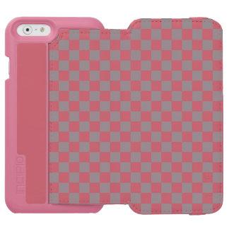 Grey Checkerboard Incipio Watson™ iPhone 6 Wallet Case