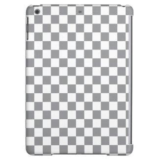 Grey Checkerboard iPad Air Cases