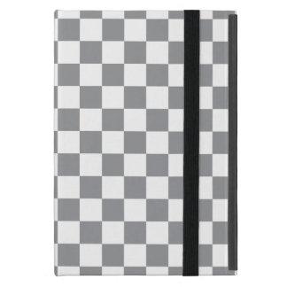 Grey Checkerboard iPad Mini Case