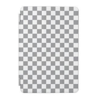 Grey Checkerboard iPad Mini Cover