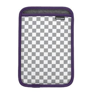 Grey Checkerboard iPad Mini Sleeve