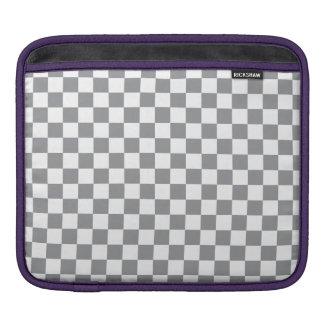 Grey Checkerboard iPad Sleeve