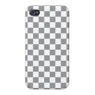 Grey Checkerboard iPhone 4/4S Cover