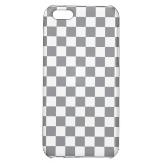 Grey Checkerboard iPhone 5C Cases