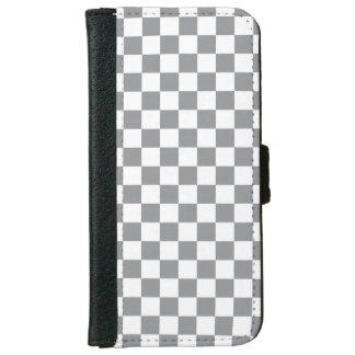 Grey Checkerboard iPhone 6 Wallet Case