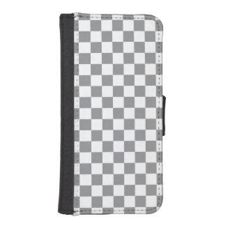 Grey Checkerboard iPhone SE/5/5s Wallet Case