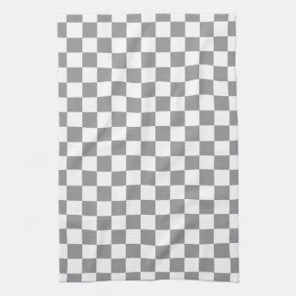 Grey Checkerboard Kitchen Towel