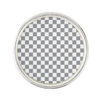 Grey Checkerboard Lapel Pin