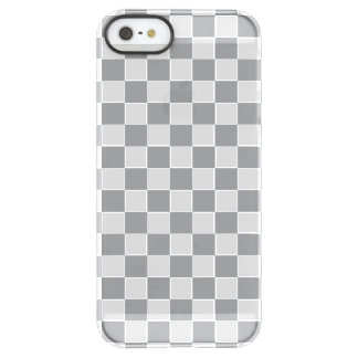 Grey Checkerboard Permafrost® iPhone SE/5/5s Case