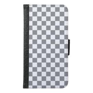 Grey Checkerboard Samsung Galaxy S6 Wallet Case