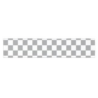 Grey Checkerboard Short Table Runner
