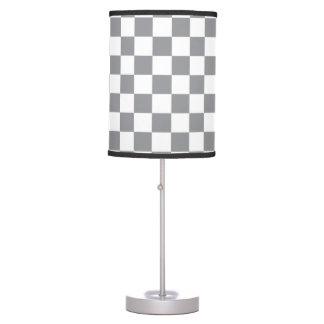 Grey Checkerboard Table Lamp
